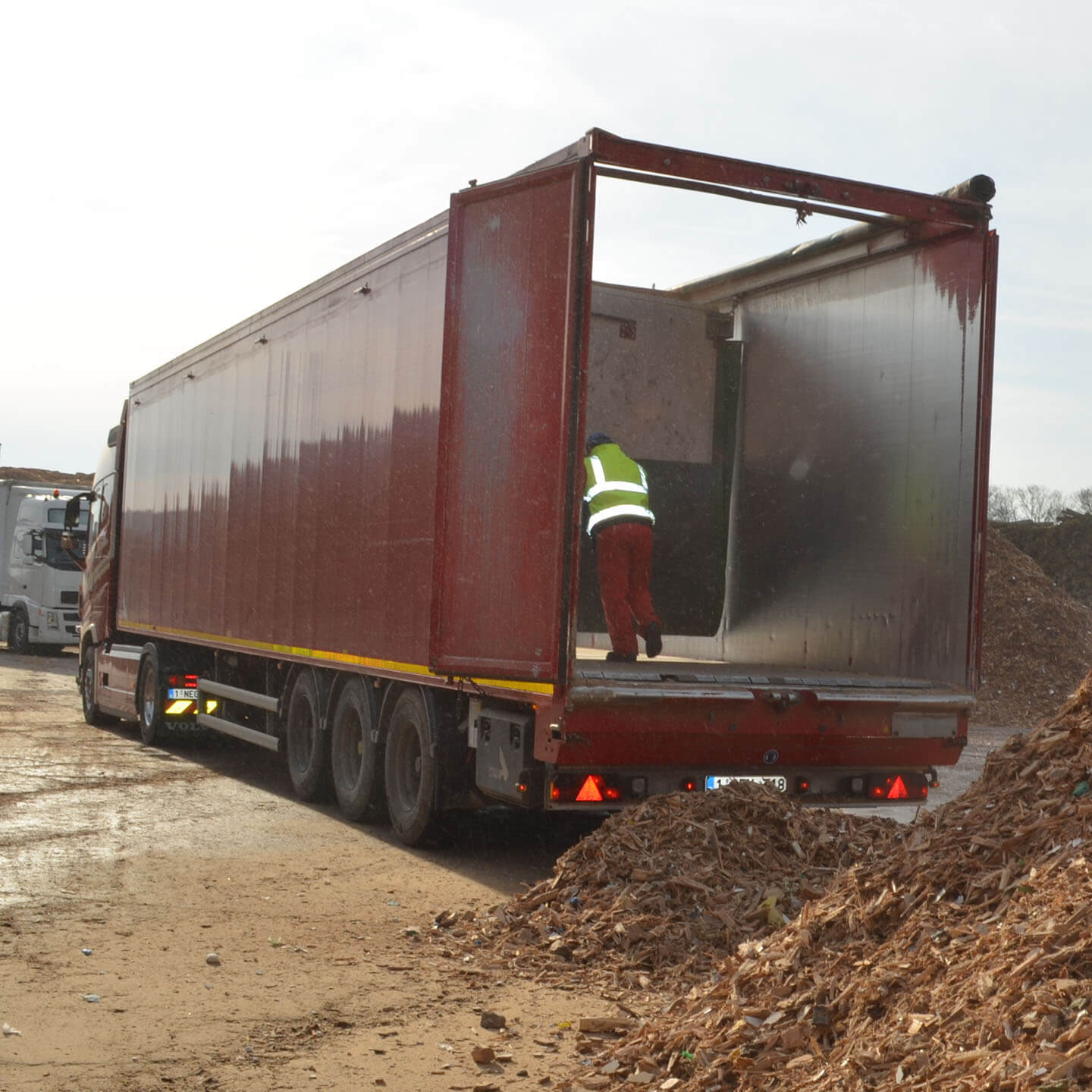 walking floor trailer vandenbroucke